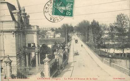 """CPA FRANCE 88 """" Charmes, le pont et l'avenue de la gare"""""""