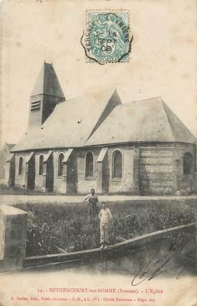 """/ CPA FRANCE 80 """"Bethancourt sur Somme, l'église"""""""