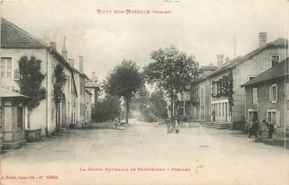 """CPA FRANCE 88  """"Rupt sur Moselle, la route nationale de Remiremont à Bussang"""