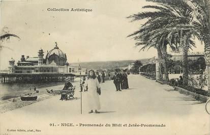 """CPA FRANCE 06 """"Nice, Promenade du Midi"""""""