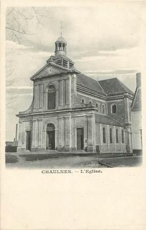 "/ CPA FRANCE 80 ""Chaulnes, l'église"""