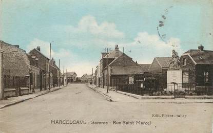 "/ CPA FRANCE 80 ""Marcelcave, rue Saint Marcel"""