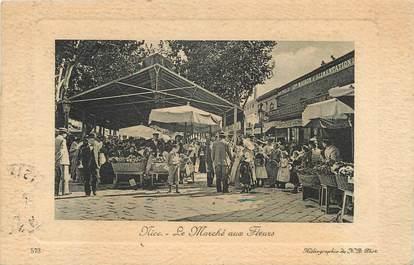 """CPA FRANCE 06 """"Nice, le marché aux fleurs"""""""