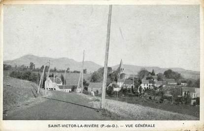"""CPA FRANCE 63 """"Saint Victor la Rivière"""""""