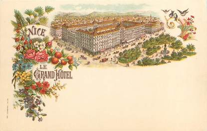 "CPA FRANCE 06 ""Nice, Le Grand Hôtel"" / ILLUSTRÉE"