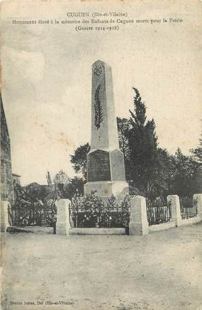"/ CPA FRANCE 35 ""Cuguen"" / MONUMENT AUX MORTS"