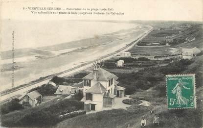"""/ CPA FRANCE 14 """"Vierville sur Mer, panorama de la plage"""""""