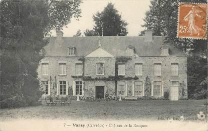 """/ CPA FRANCE 14 """"Vassy, château de la Rocques"""""""