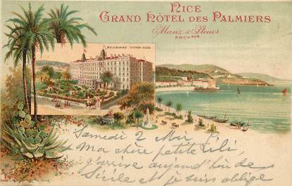 """CPA FRANCE 06 """"Nice, Grand Hotel des Palmiers"""""""