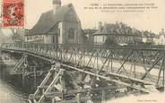 """89 Yonne CPA FRANCE 89 """"Sens, la Passerelle construite sur l'Yonne"""""""