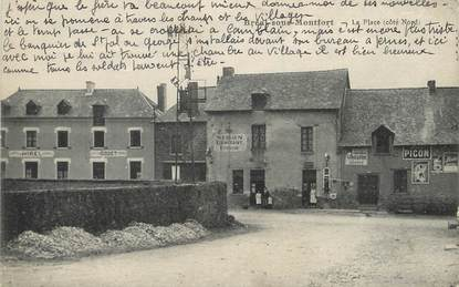 """/ CPA FRANCE 35 """"Bréal sous Montfort, la place"""""""