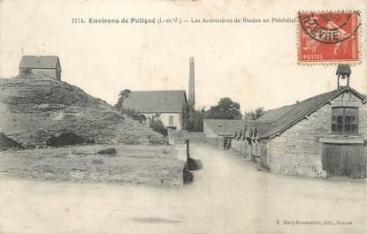 """/ CPA FRANCE 35 """"Environs de Poligné, les ardoisières de Riadan en Pléchâtel"""""""