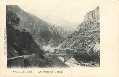 """CPA FRANCE 06 """"Guillaumes, le Pont de Cante"""""""