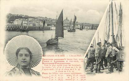 """CPA FRANCE 62 """"Boulogne sur Mer, l'avant port"""""""