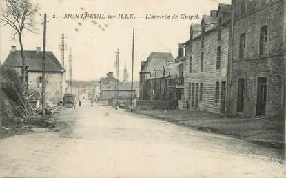 """/ CPA FRANCE 35 """"Montreuil sur Ille, l'arrivée de Guipel"""""""