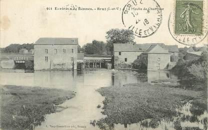 "/ CPA FRANCE 35 ""Environs de Rennes, Bruz, le moulin de Champdor"""