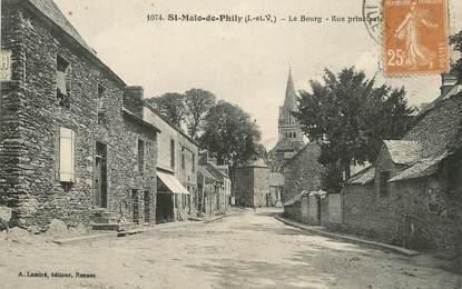 """/ CPA FRANCE 35 """"Saint Malo de Phily, le bourg, rue principale"""""""