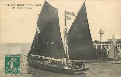 """CPA FRANCE 62 """"Boulogne sur Mer, bateaux de pêche"""""""