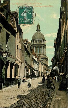 """CPA FRANCE 62 """"Boulogne sur Mer, la rue de Lille"""""""