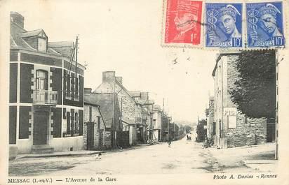 """/ CPA FRANCE 35 """"Messac, l'avenue de la gare"""""""