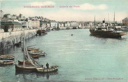 """CPA FRANCE 62 """"Boulogne sur Mer, entrée du port"""""""