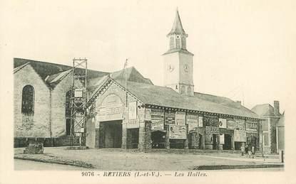 """/ CPA FRANCE 35 """"Retiers, les Halles"""""""