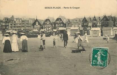 """CPA FRANCE 62 """"Berck, partie de croquet"""""""