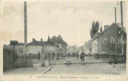 """/ CPA FRANCE 62 """"Beuvry, route Nationale"""""""