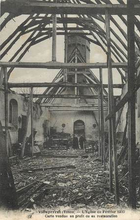 "CPA FRANCE 89 "" Villeperrot, L'Eglise"""