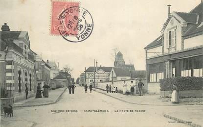 """CPA FRANCE 89 """" Saint Clément, la rte de Nogent"""""""