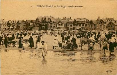 """CPA FRANCE 62 """"Berck, la plage à marée montante"""""""
