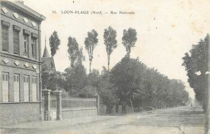 """/ CPA FRANCE 59 """"Loon plage, rue Nationale"""""""
