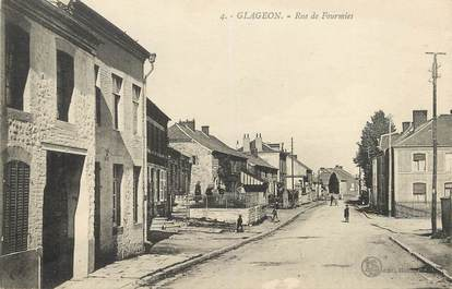 "/ CPA FRANCE 59 ""Glageon, rue de Fourmies"""