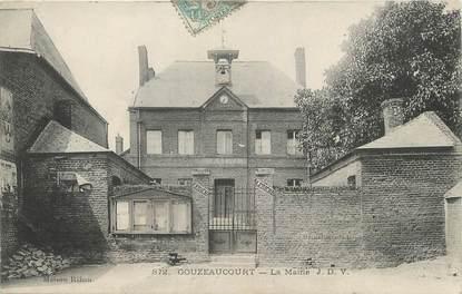 """/ CPA FRANCE 59 """"Gouzeaucourt, la mairie"""""""