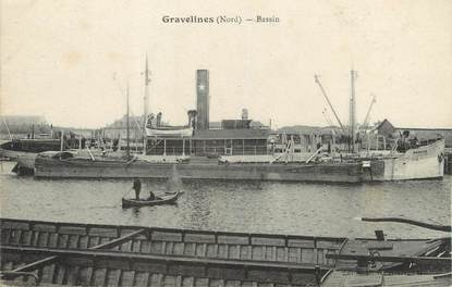 "/ CPA FRANCE 59 ""Gravelines, bassin"""