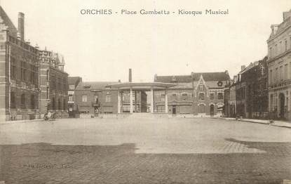 """/ CPA FRANCE 59 """"Orchies, place Gambetta, kiosque musical"""""""
