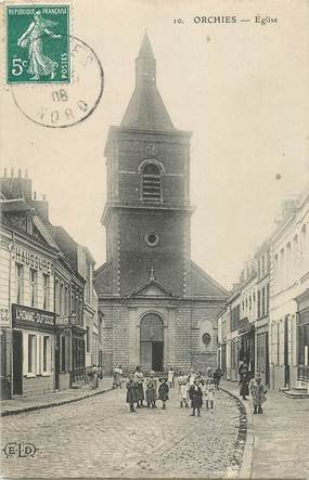 """CPA FRANCE 59  """"Orchies, l'Eglise"""""""