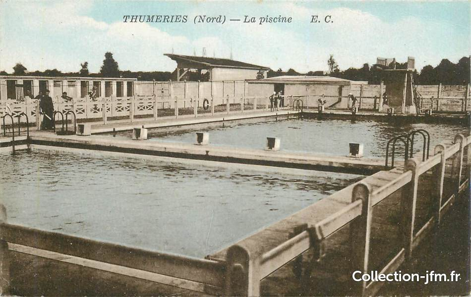 Cpa france 59 thumeries la piscine 59 nord autres for Piscine fourmies