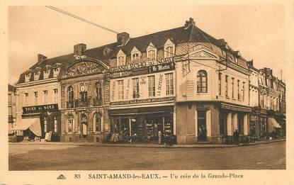 """CPA FRANCE 59  """" Saint Amand les Eaux, un coin de la Grande place"""""""