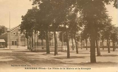 """CPA FRANCE 59  """" Raismes, la Place de la mairie"""""""