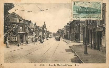 """CPA FRANCE 59 """"Loos, la rue du Mal Foch"""""""
