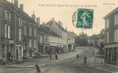 """CPA FRANCE 52 """"Fayl Billot, a grande rue"""""""
