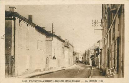 """CPA FRANCE 79 """"Frontenay Rohan Rohan, la Grande Rue"""""""