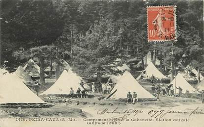 "CPA FRANCE 06 ""Peira Cava, campement alpin à la Cabanette  """