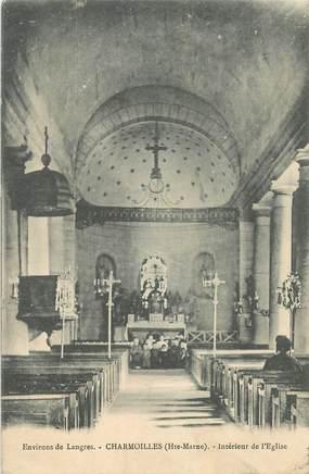 """CPA FRANCE 52 """"Charmoilles, interieur de l'Eglise"""""""