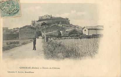"""CPA FRANCE 26 """"Grignan, entrée du chateau"""""""