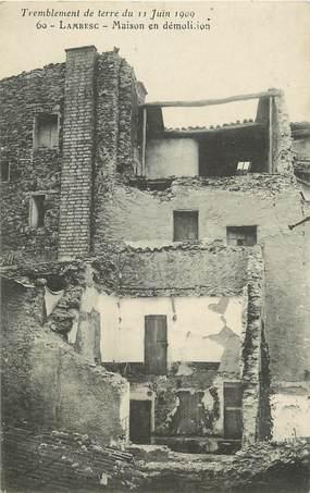 """CPA FRANCE 13 """"Lambesc, maison en démolition"""""""
