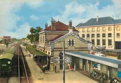"""CPSM  FRANCE 78 """"Maisons Laffitte, la gare et la poste"""""""