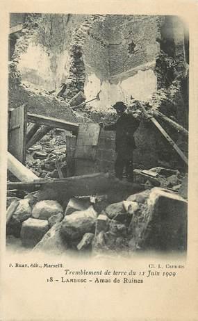 "CPA FRANCE 13 ""Lambesc, tremblement de terre 1909"""