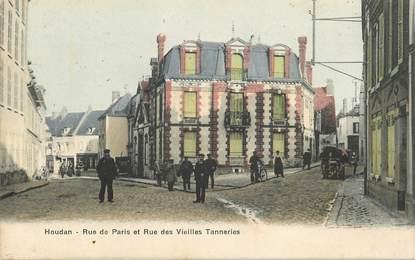 """CPA FRANCE 78 """"Houdan, la rue de  Paris et rue des Vieilles Tanneries"""""""